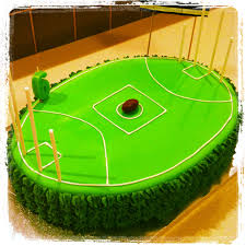 afl football ground cake sports theme party pinterest cake