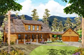 mountain house plans with detached garage arts