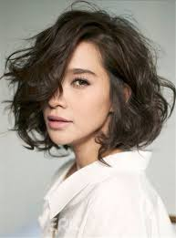 lob hair with side fringe ericdress shag lobs loose wavy short hairstyle side swept fringes