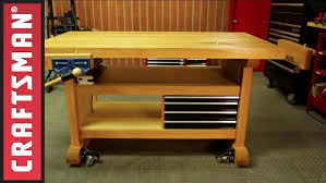 Work Bench For Sale Garage Workbench Garage Workbench And Tool Storage Youtube