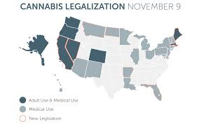 State Map by States With Legal Cannabis America U0027s Legalization Map Leafly