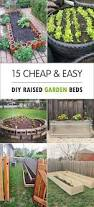 15 cheap u0026 easy diy raised garden beds easy patio beds