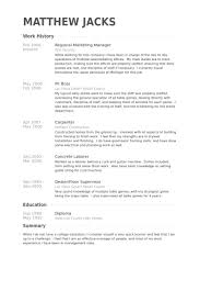 Marketing Resume Examples Marketing Sample Resumes Livecareer by Ap Stats Homework Top Home Work Writing Website For Mba An Essay