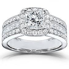 2 engagement rings princess cut engagement ring 2 carat ctw in 14k white