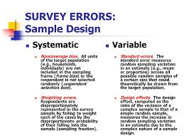 design effect in survey final report outline overview of survey errors ppt video online