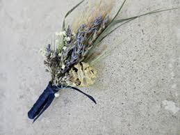 dried boutonniere river boutonniere lavender