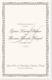 Templates For Wedding Programs Wedding Program Wording Templates For Greek And Russian Orthodox