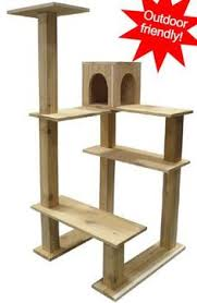 on sale 50 cat tree faux wood 3tier cat tree von saysculptures
