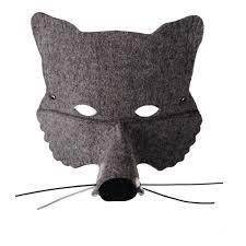Wolf Mask Felt Wolf Mask Grey Frida U0027s Tierchen Toys And Hobbies Teen