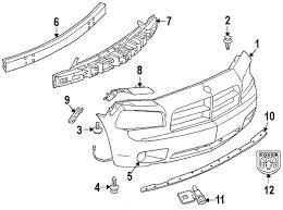 dodge charger oem parts parts com dodge fascia front partnumber 4806179ae