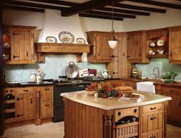Ceramic Tile Backsplash Kitchen Wooden Cabinets Modern Cottage Kitchen Design Double Bowl Drop In
