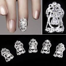 2014 fashion 3d nail art diy metal hollowed stickers rhinestone