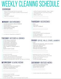 printable evening schedule 7 of the best free printable cleaning schedules