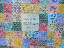plate guest book name plate guest book quilt you choose size autograph quilt