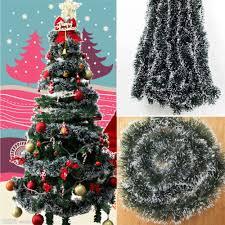 tinsel garland hot green shining 2m tinsel garland christmas tree decoration