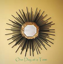 furniture charming black starburst wall decor with mirror on