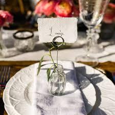 glass bud vase name card holders set of 4 u2013 the wedding of my dreams