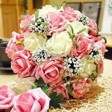 wedding centerpieces bouquet sweetheart rose silk flower bride