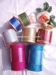 wholesale paillette wire mesh ribbon decorative mesh ribbon for