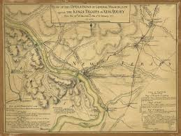 George Washington Bridge Map by Historical New Jersey Revolutionary War Maps