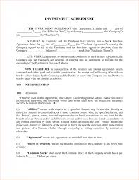 managed service contract template with investors agreement