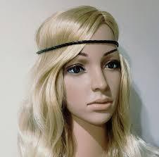 forehead headband black leather boho hippie vintage forehead headband wlstore hb324