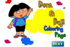 dora explorer buji coloring game dora explorer