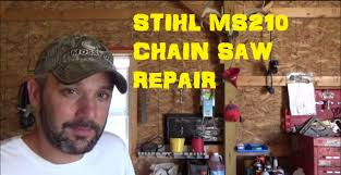 replace carburetor stihl ms210 chain saw youtube