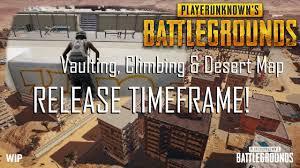 pubg new map release date vaulting climbing desert map release announced pubg news