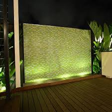 Backyard Feature Wall Ideas Lit Feature Wall Garden Lighting Ideas Pinterest Garden