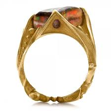 gold ring images for men custom men s black opal and yellow gold ring 100574