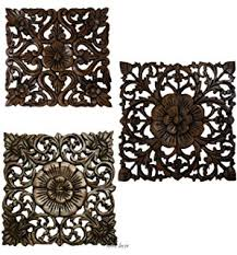 large carved wood wall panel floral wood carved wall