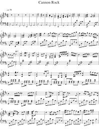 tutorial piano canon canon rock sheet music for piano musescore