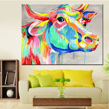 Cow Home Decor Handmade Home Decor Paintings Abstract Animal Canvas Cow