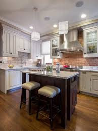 kitchen modern brick backsplash kitchen ideas with white cabinets