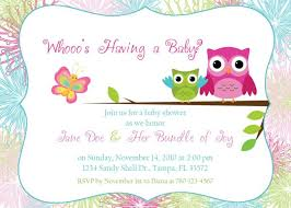 designs owl themed baby shower invitation template in