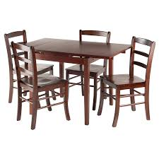 Shaker Dining Room Chairs Amazon Com Winsome Wood Pulman 5 Piece Set Extension Table With