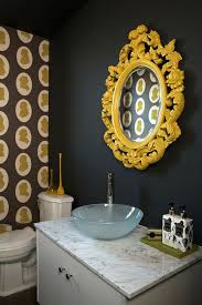 black and yellow bathroom ideas black and yellow bathroom the rococo mirror and silhouette