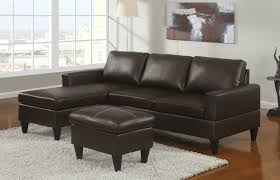 Compact Sectional Sofa by Sausalito Espresso Leather Small Sectional Sofa Set By Urban Cali