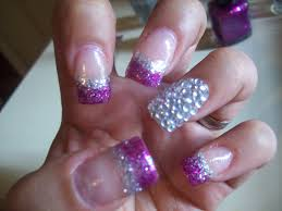 39 nail designs with purple and silver nailspics