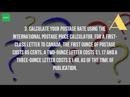 how much does it cost to send a letter to canada youtube