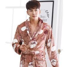 robe de chambre hommes peignoir hommes hiver chaud corail polaire kimono peignoir