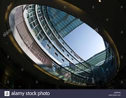 shop in shop interior stilwerk building design store modern architecture oval open glass