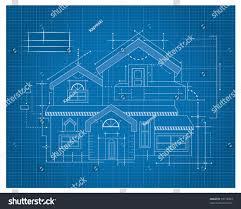 Blueprint Houses Modern House Blueprint Stock Vector 99718403 Shutterstock