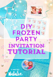 diy frozen party invitation tutorial free printable at home