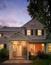 exterior paint colors that go with brick dining room contemporary