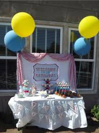 Dessert Table Backdrop by Honeycomb Events U0026 Design Send In The Clowns