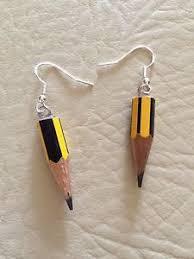 earrings for school funky pencil drop earrings school drawing cool novelty