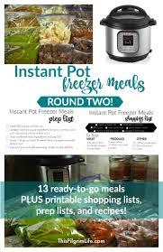 Simmer Pot Recipes Instant Pot Freezer Meals Round Two This Pilgrim Life