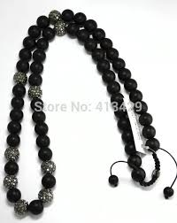 black necklace with crystal images Big promotion free shipping 10mm crystal rock shamballa necklaces jpg